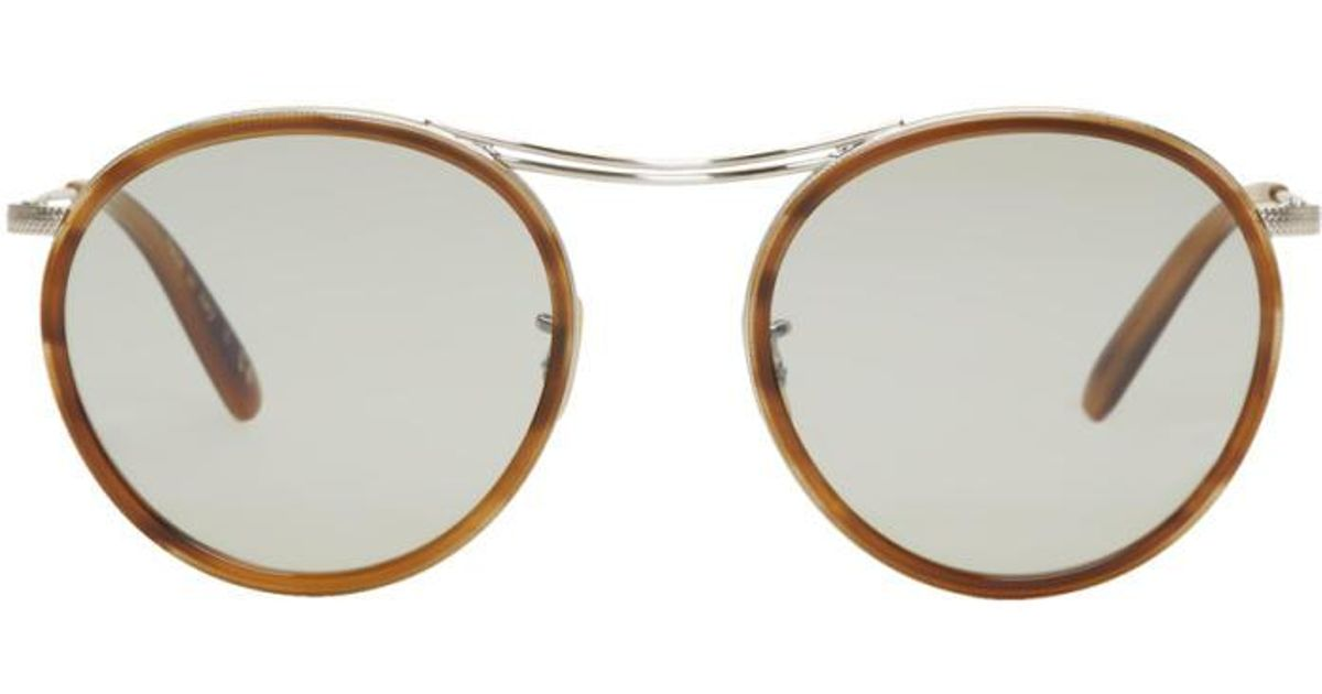 c11f853b85 Lyst - Oliver Peoples Silver   Tortoiseshell Mp-3 30th Sunglasses in  Metallic for Men