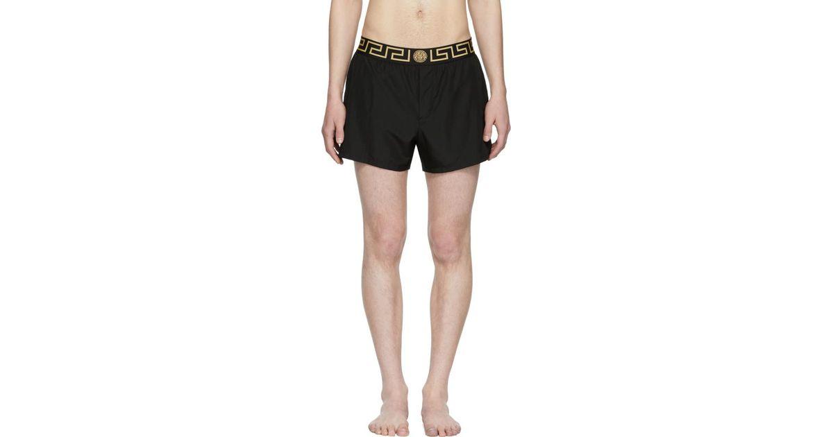 Lyst - Maillot de bain noir Greek Key Medusa Versace pour homme en coloris  Noir f9438225873