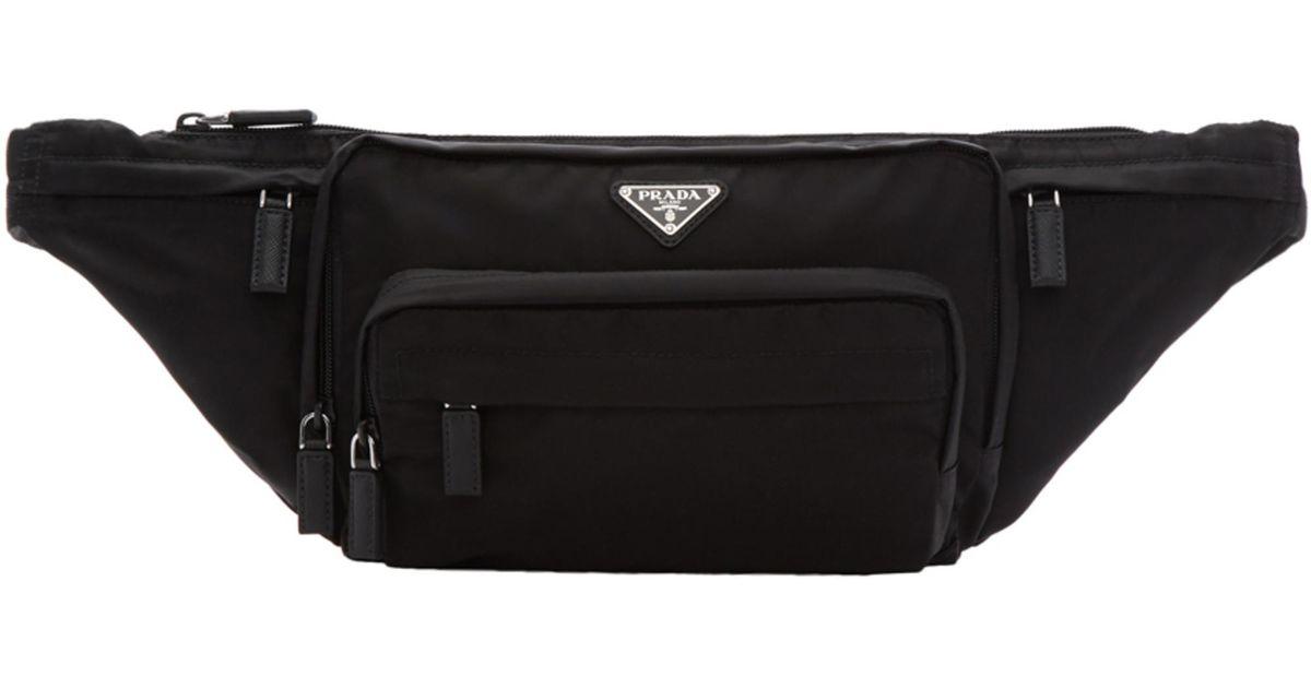 e04fbf85a15d Prada Black Nylon Mountain Fanny Pack in Black for Men - Lyst
