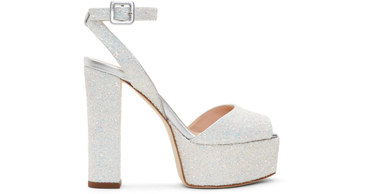 Giuseppe Zanotti Grey Glitter Lavinia Platform Sandals 68rr7f