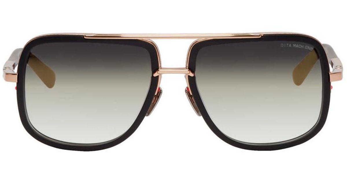 8f3204fb55e6 Dita Black And Gold Mach-one Sunglasses in Black for Men - Lyst