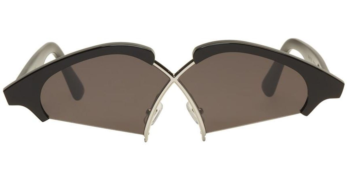 3399e858fc0 Lyst - Gentle Monster Black Hood By Air Edition Nunty Sunglasses in Black
