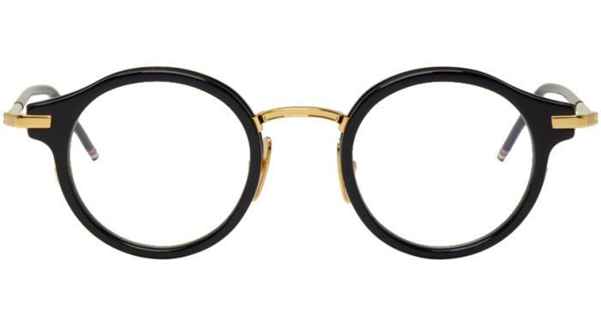 11b79f520f04 Lyst - Thom Browne Navy   Gold Tb-807 Glasses in Blue for Men