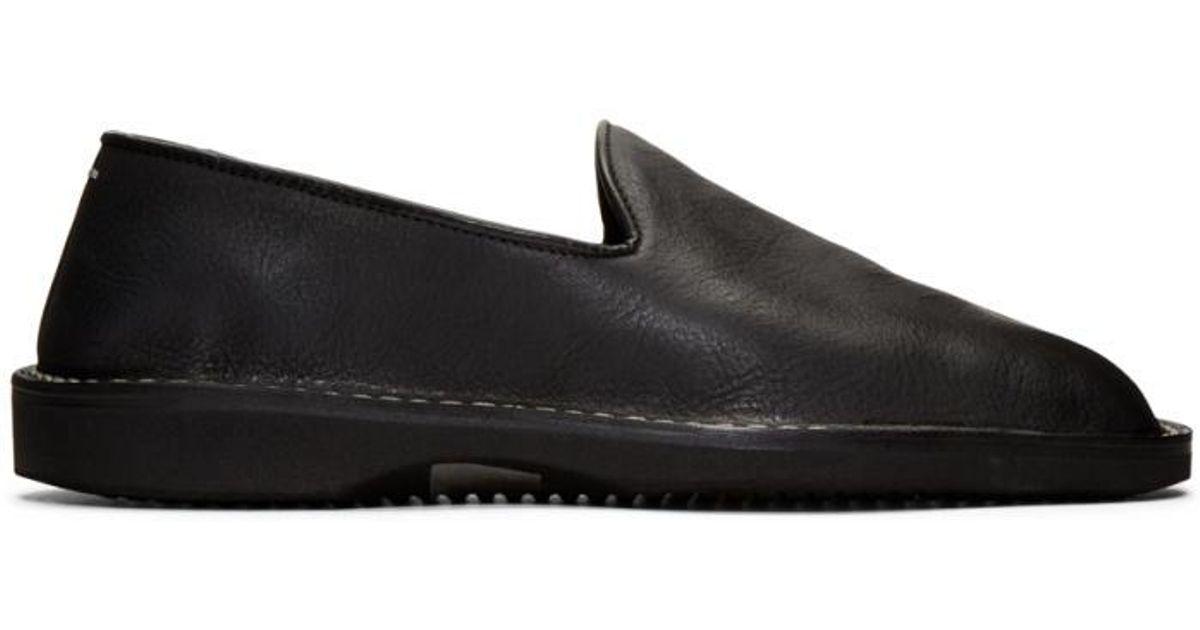 Maison Margiela Black Patent Palacio Loafers IJDq1Ju3e