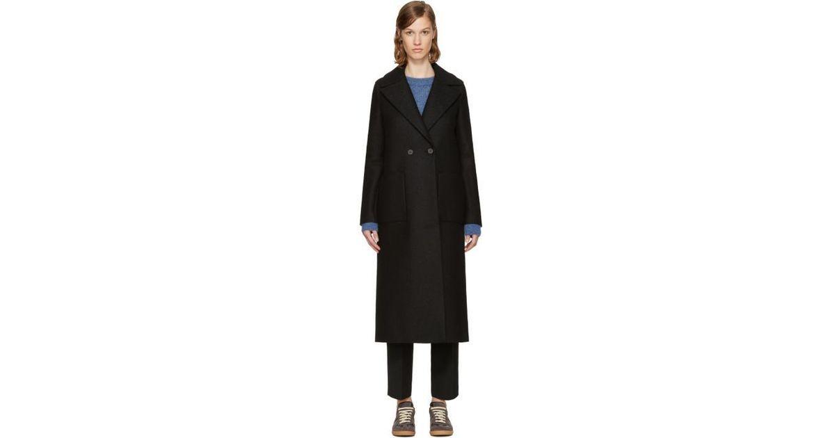 4693d1f7e606d Harris Wharf London Black Wool Boxy Duster Coat in Black - Lyst