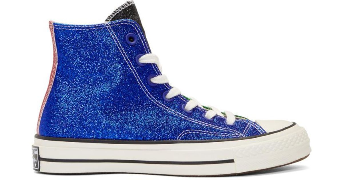 4de1793ef184 ... usa lyst j.w. anderson green and blue converse edition chuck taylor all  star 70s high top
