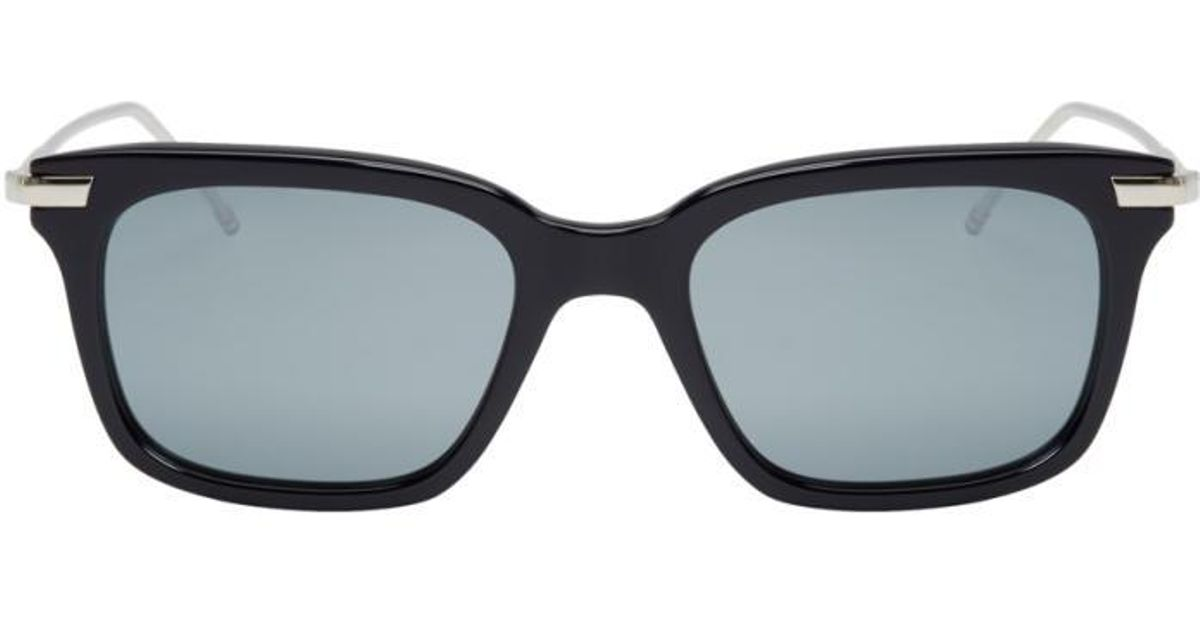 3a57413ce7e Lyst - Thom Browne Navy   Silver Tb-701 Sunglasses in Blue for Men
