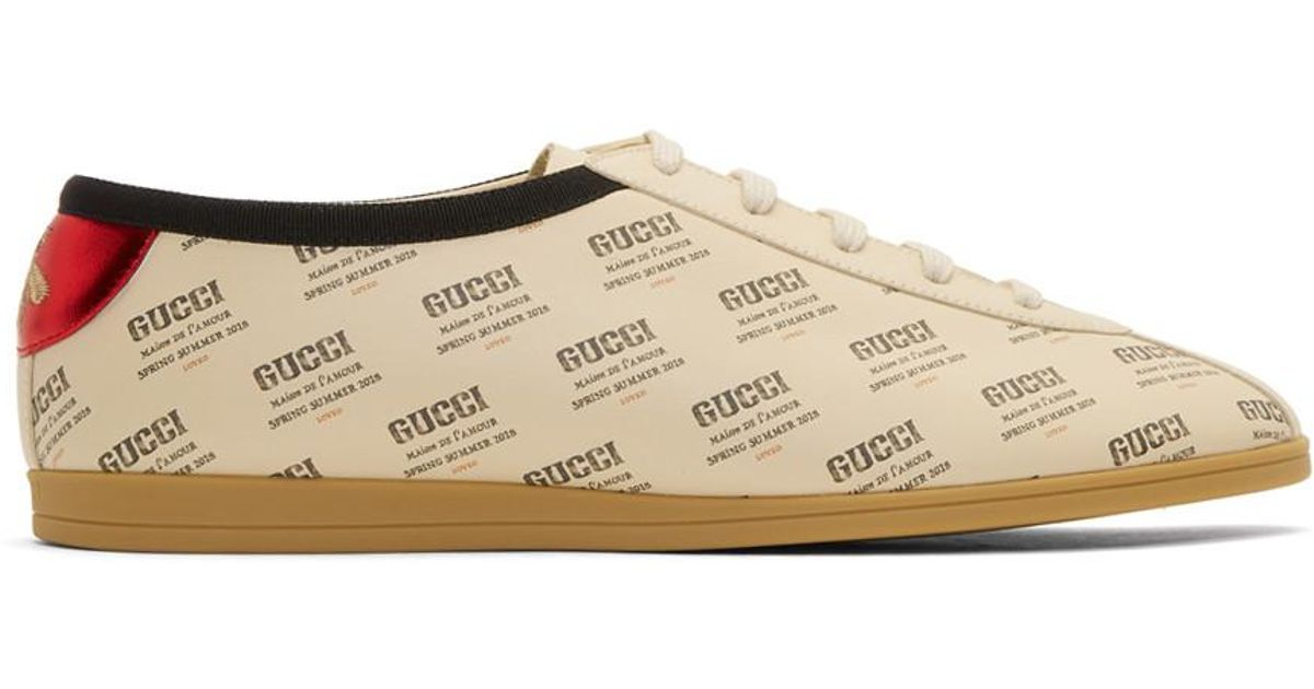 Gucci Off-White All Over Stamp Print Falacer Sneakers 4iU07yOZV