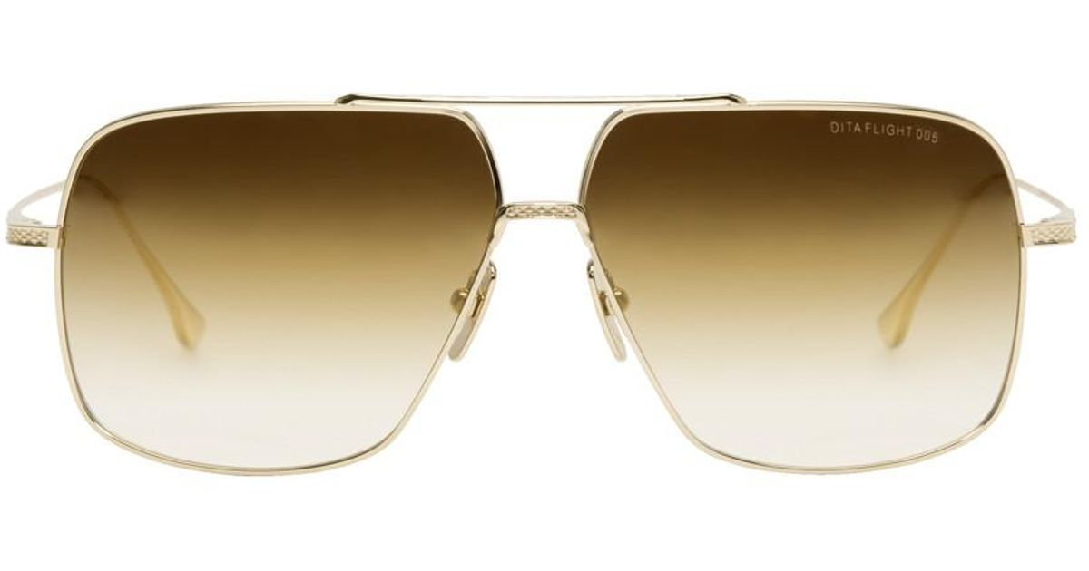 81c33b99b1b8 Lyst - DITA Gold Flight 005 Sunglasses in Metallic for Men