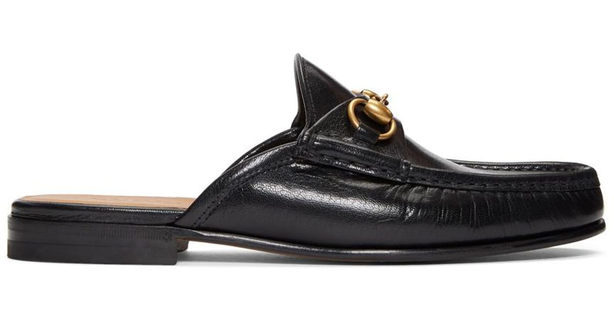 63d891dfc Gucci Black Slip-on Roos Loafers in Black for Men - Lyst