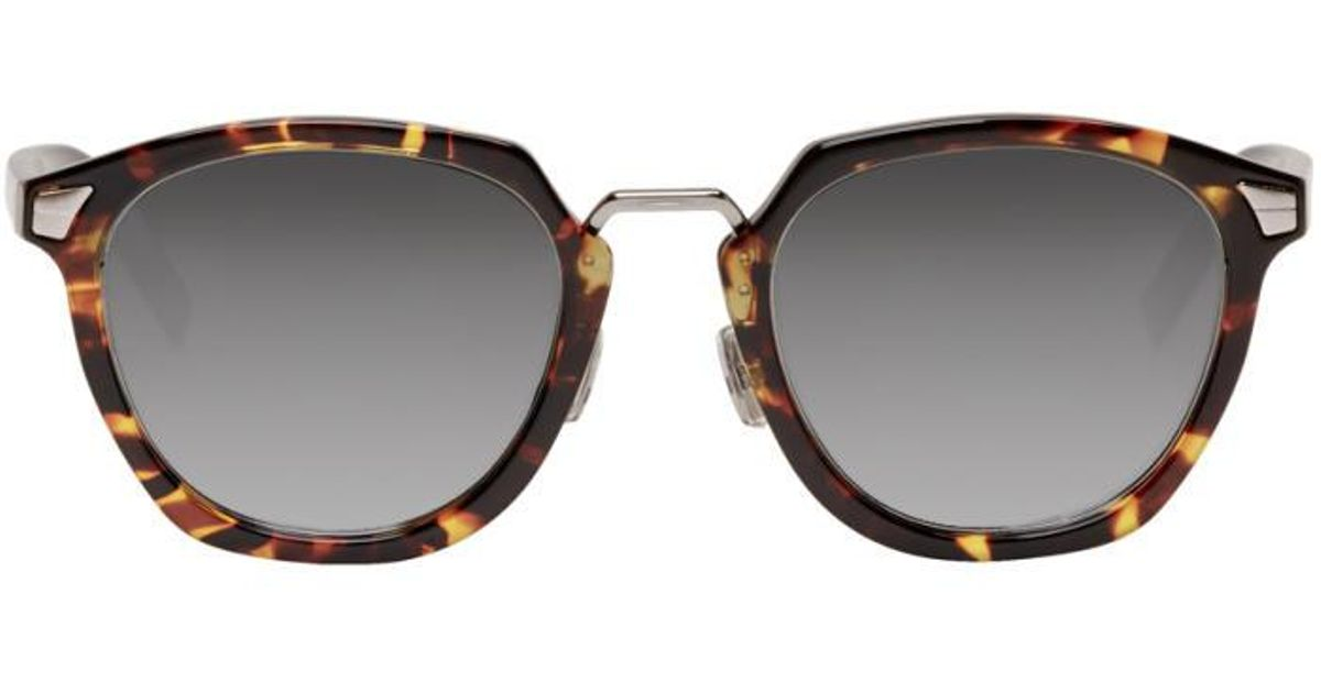 74df6fa774063 Dior Homme Brown Tortoiseshell  dior Tailoring 1  Sunglasses in Brown for  Men - Lyst