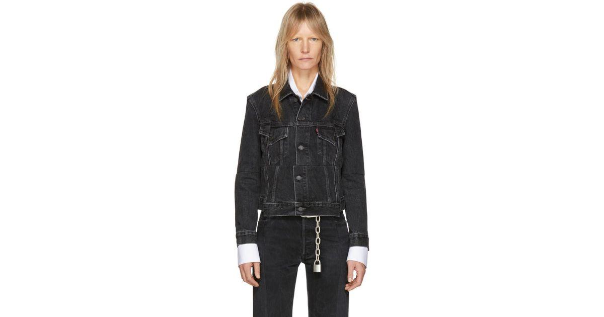 Lyst Vetements Black Levi S Edition Reworked Denim Jacket In Black