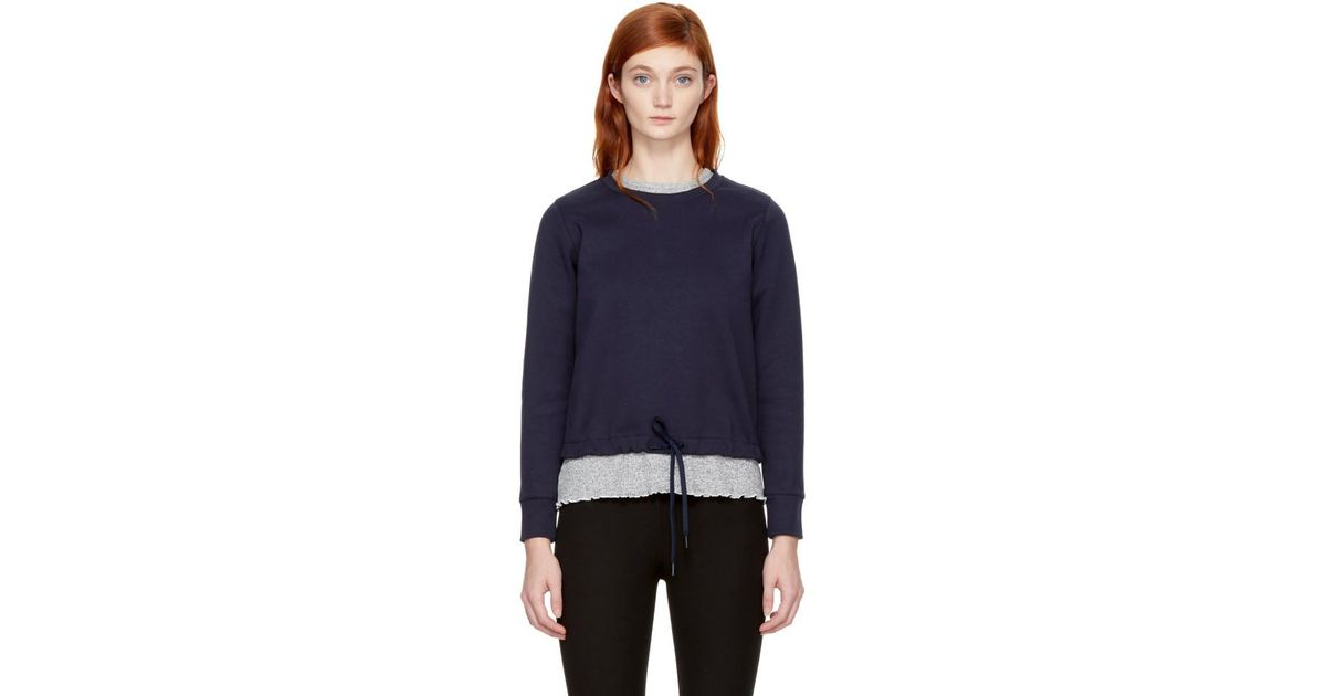 Navy Andie Sweatshirt A.P.C. Sale For Nice Shopping Online Sale Online Footlocker Sale Online Cheap Sale View Clearance Explore MhyNe