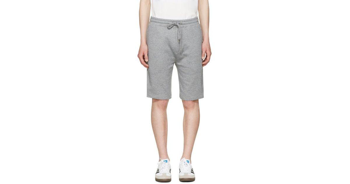 2713bf67afb Lyst - KENZO Grey Nasa Shorts in Gray for Men