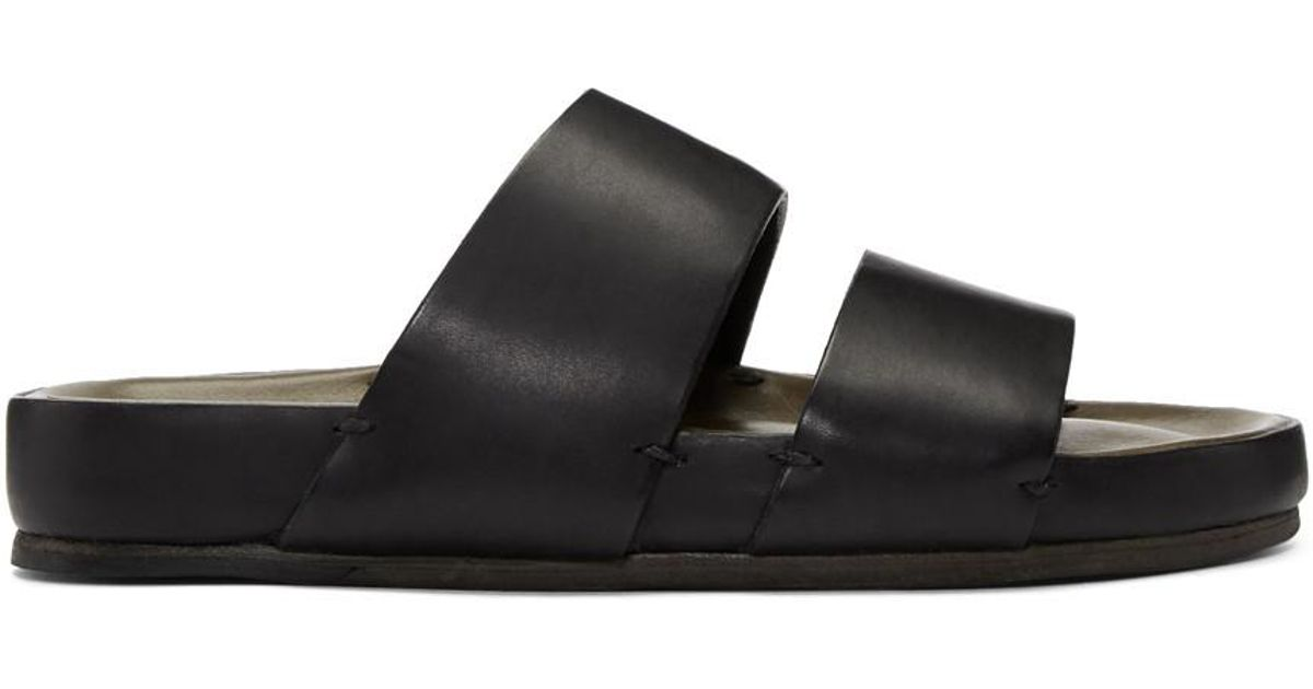 44d01999a71b Feit Black Two-strap Sandals in Black for Men - Lyst