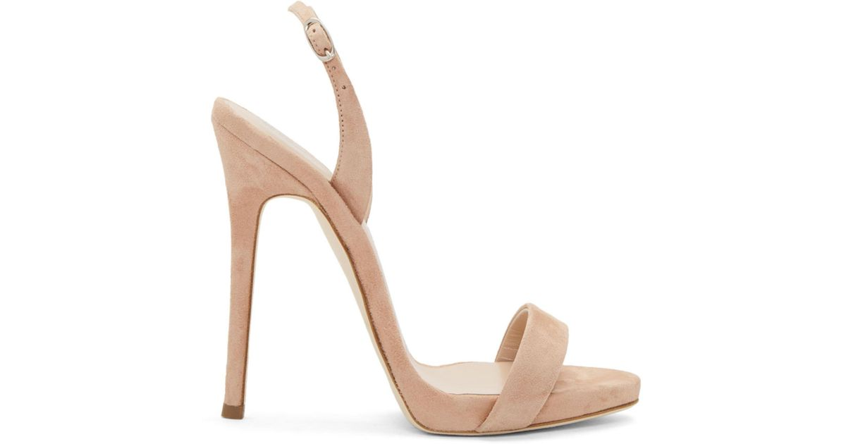 Giuseppe Zanotti Suede Coline Plunge Sandals Many Kinds Of For Sale Outlet Eastbay u23Lp