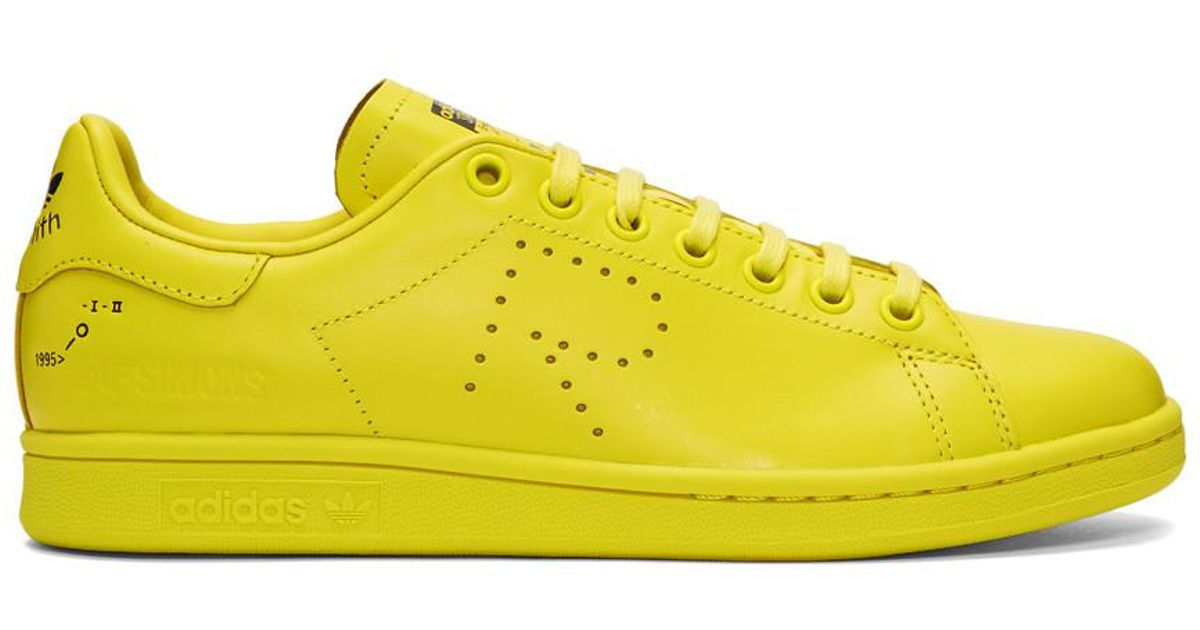 wholesale dealer 51c5c fd4b4 Lyst - Raf Simons F34259 Rs Stan Smith in Yellow for Men