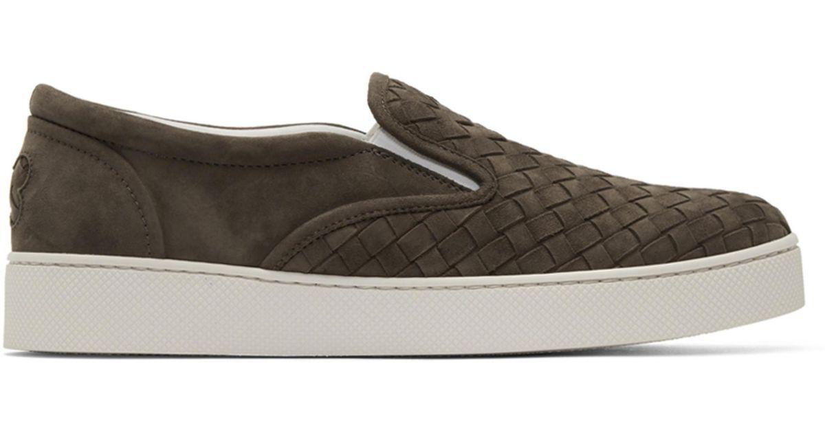 Bottega Veneta Classic Intrecciato Slip-On Sneakers isWSzE