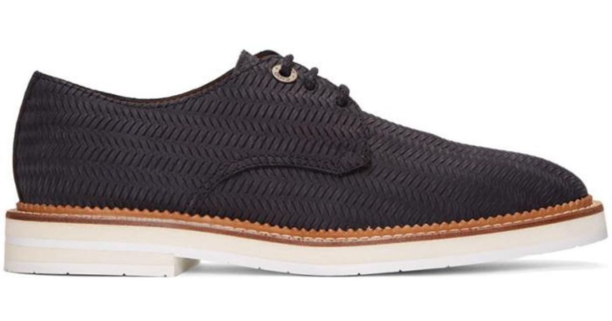 Sale Cheap Price Sale Official Jimmy Choo Graham Woven Embossed-Suede Oxford(Men's) -Dark Tan Woven Embossed Suede Buy Cheap New Arrival aW6kgWM