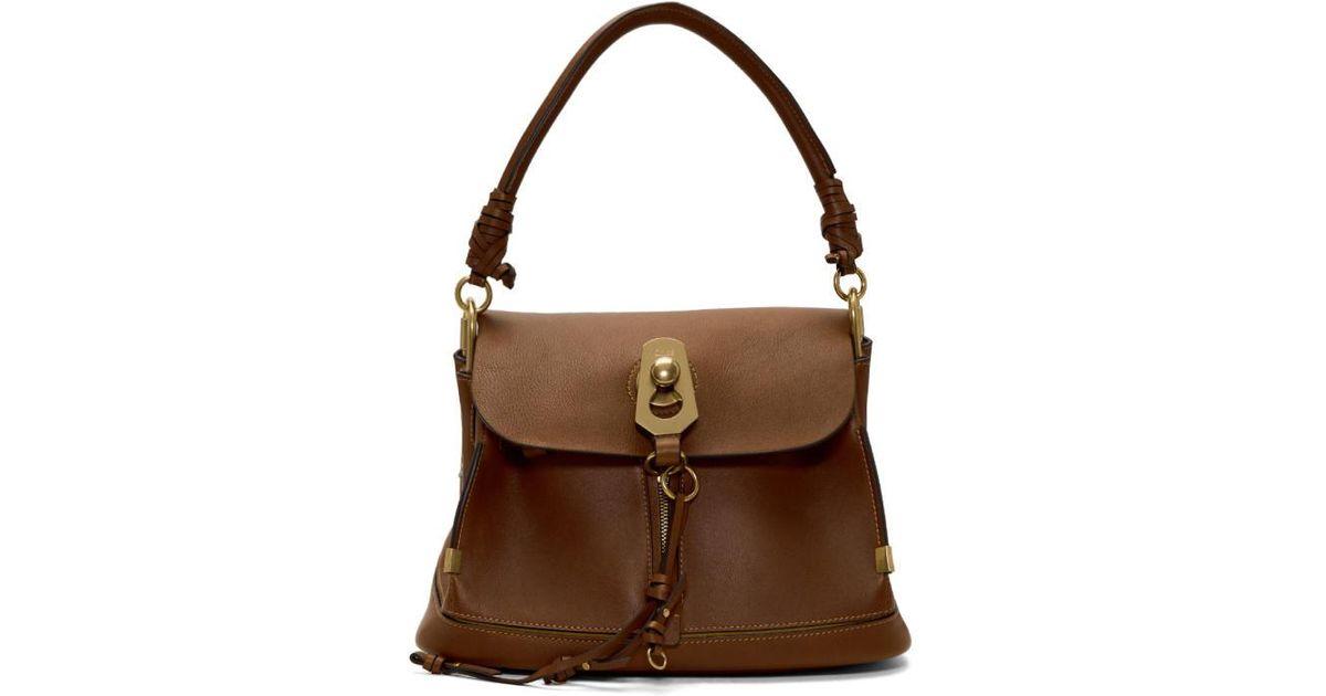 8e3d5a5ece0b Chloé Brown Small Owen Bag in Brown - Lyst
