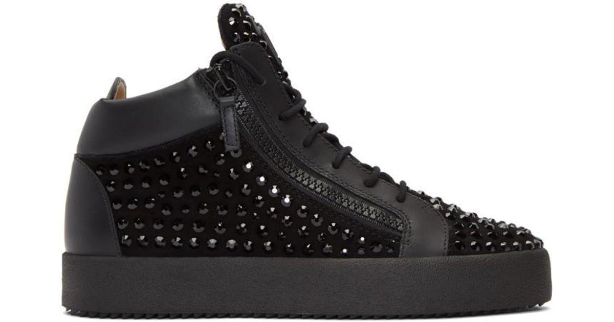 Giuseppe Zanotti Black Rhinestone May London Sneakers dS8Xlet