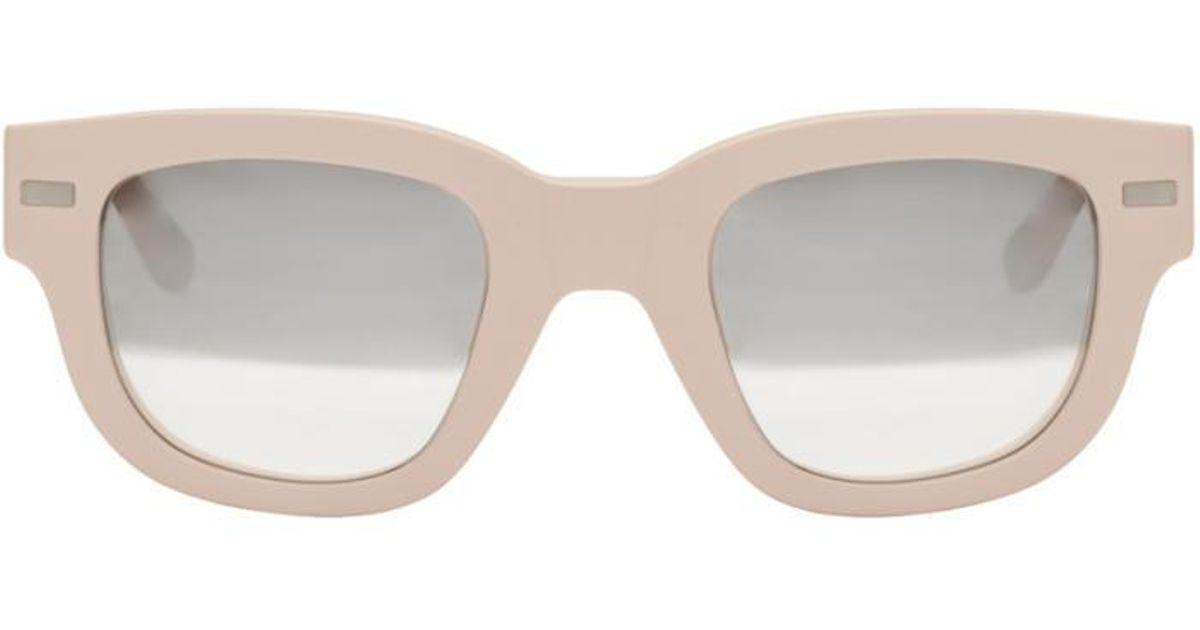 c239904ed4 Lyst - Acne Studios Pink Frame Metal Sunglasses in Pink
