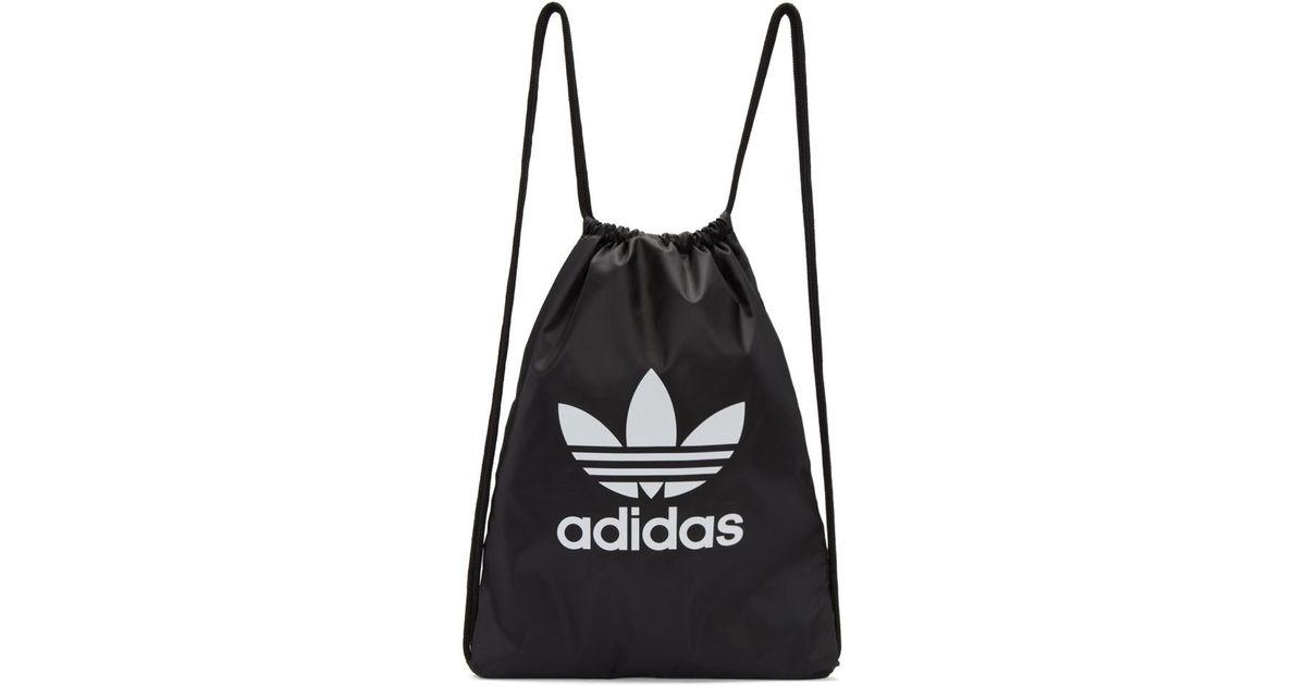 f74dad644528 adidas Originals Black Trefoil Gym Backpack in Black - Lyst