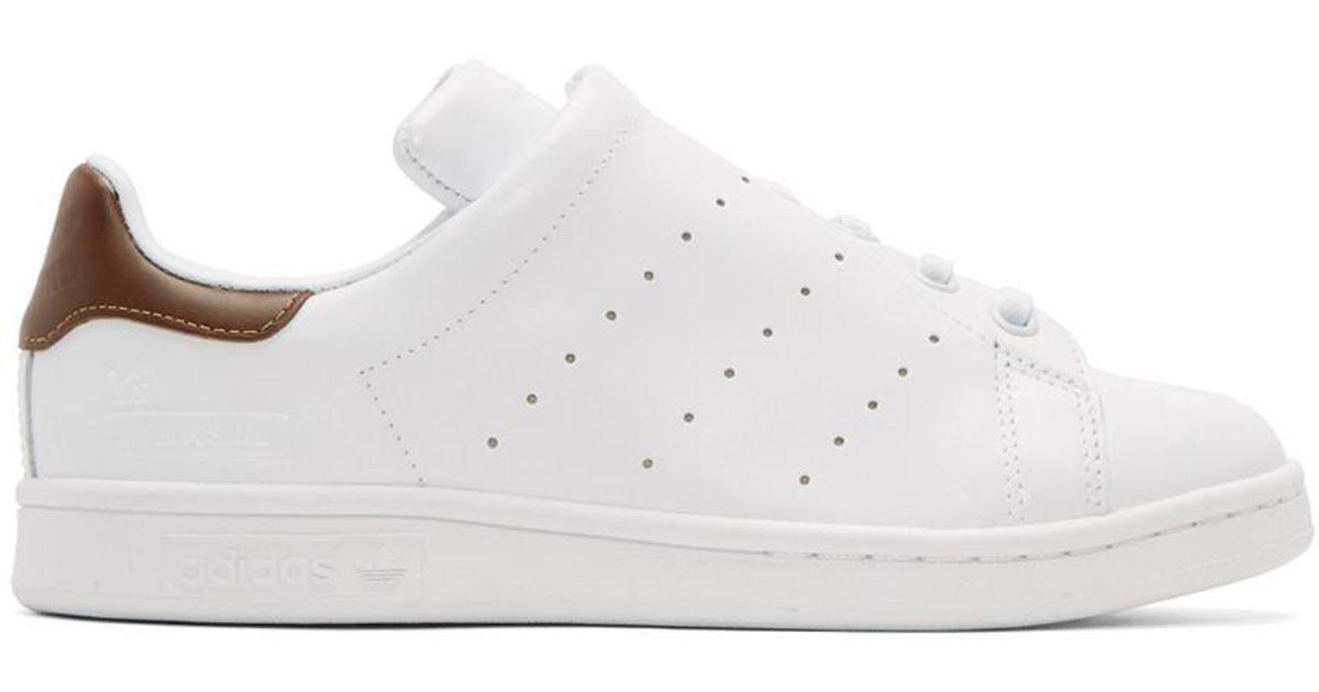 e36eab7fb Y s Yohji Yamamoto White Adidas Originals Edition Diagonal Stan Smith  Sneakers in White - Lyst