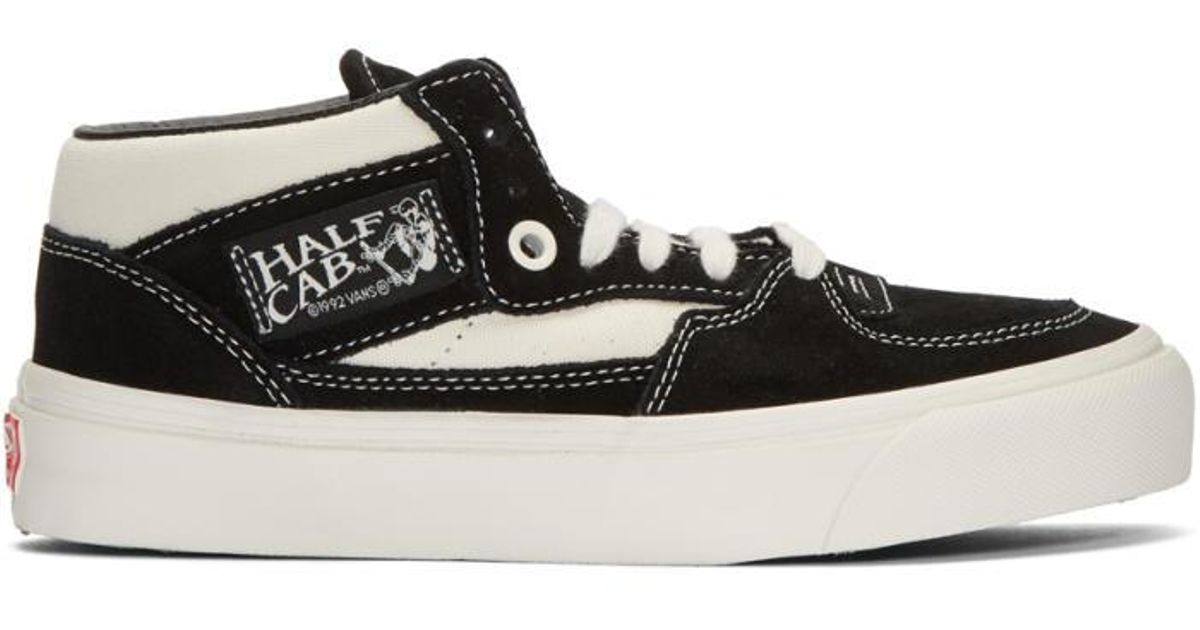 1bd009fddf0 Lyst - Vans Black   Off-white Suede Og Half Cab Lx Mid-top Sneakers in Black