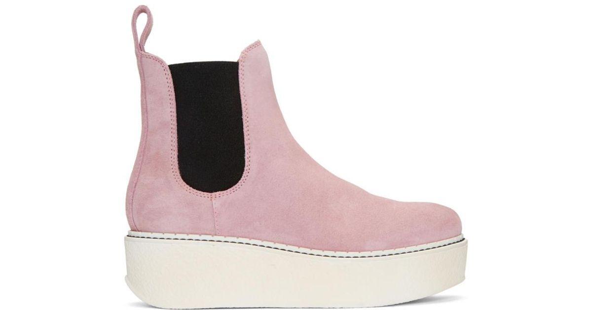Flamingos SSENSE Exclusive Grey Suede Gibus Platform Boots AdQNi9CYQ2