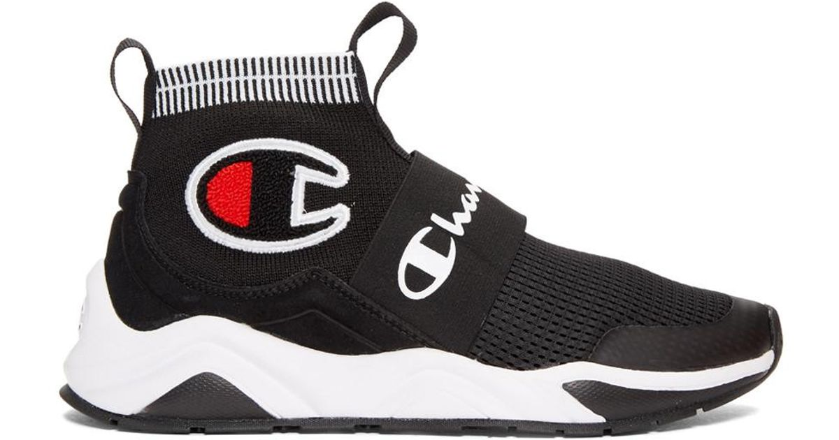 0a9e669c3eb Lyst - Champion Black Rally Pro High-top Sneakers in Black - Save 36%
