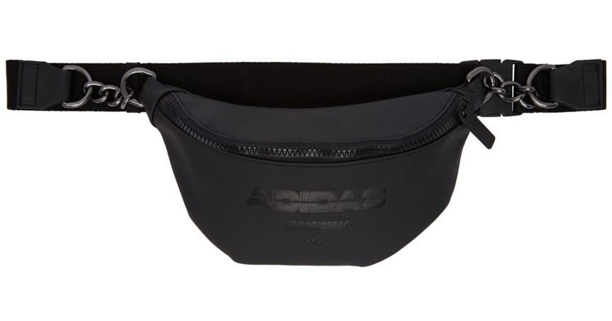 de98c00c235c Lyst - adidas Originals Black Faux-leather Fanny Pack in Black
