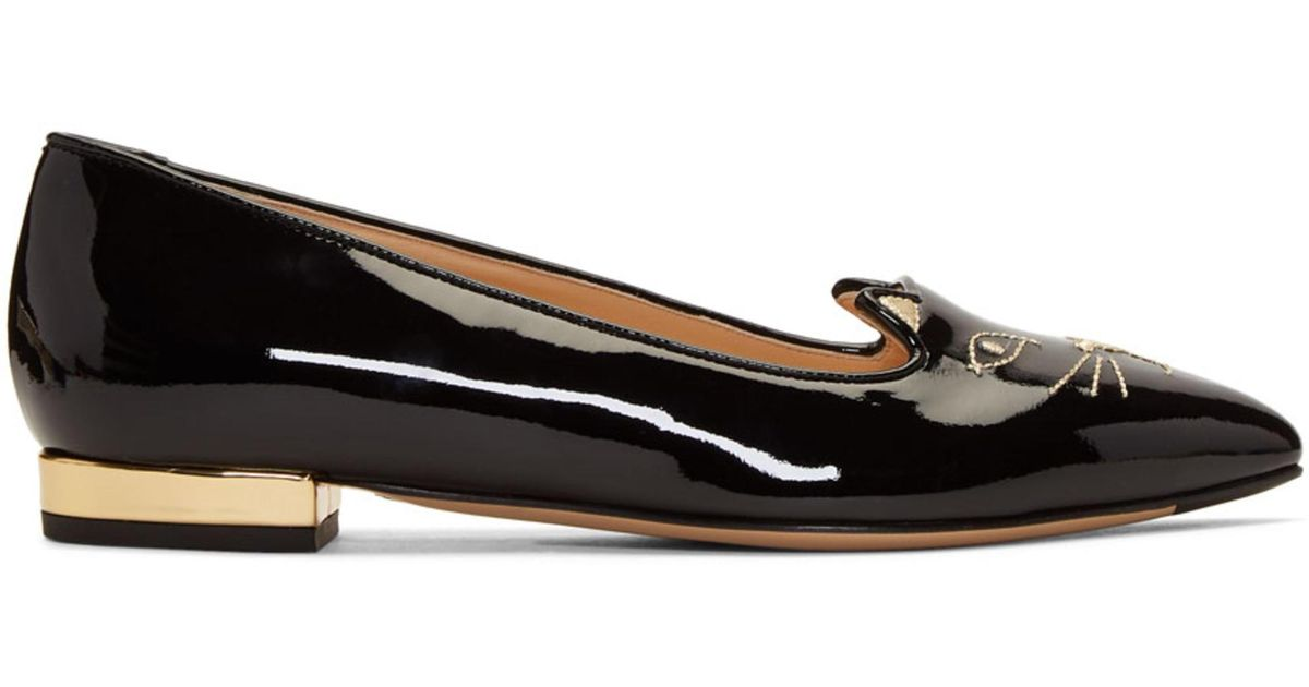 Charlotte Olympia SSENSE Exclusive Patent Kitty Flats Buy Cheap Cheapest q4HUKfdk4b