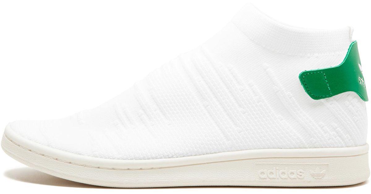 official photos 3e91f b0f1b Adidas - White Stan Smith Sock Primeknit for Men - Lyst