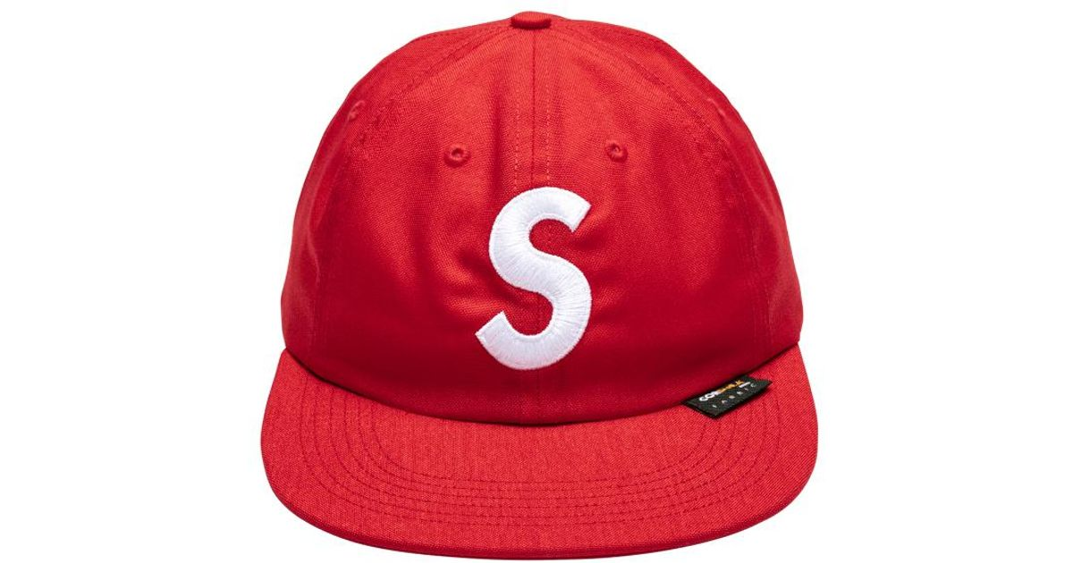 118eba00 Supreme Cordura S Logo 6-panel Cap 'fw 17' in Red for Men - Lyst