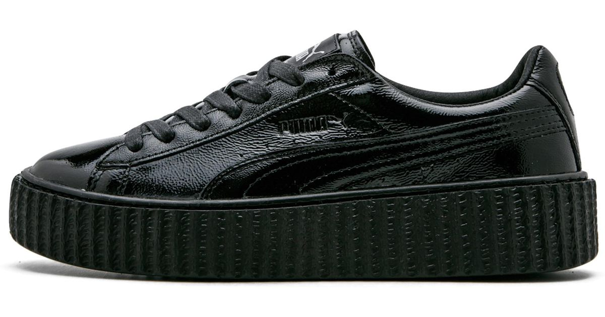 brand new 3621b e91a0 PUMA - Black Creeper Wrinkled Patent for Men - Lyst