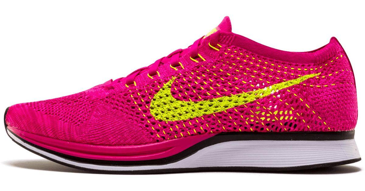 8f94421c995 Nike Flyknit Racer in Pink - Lyst