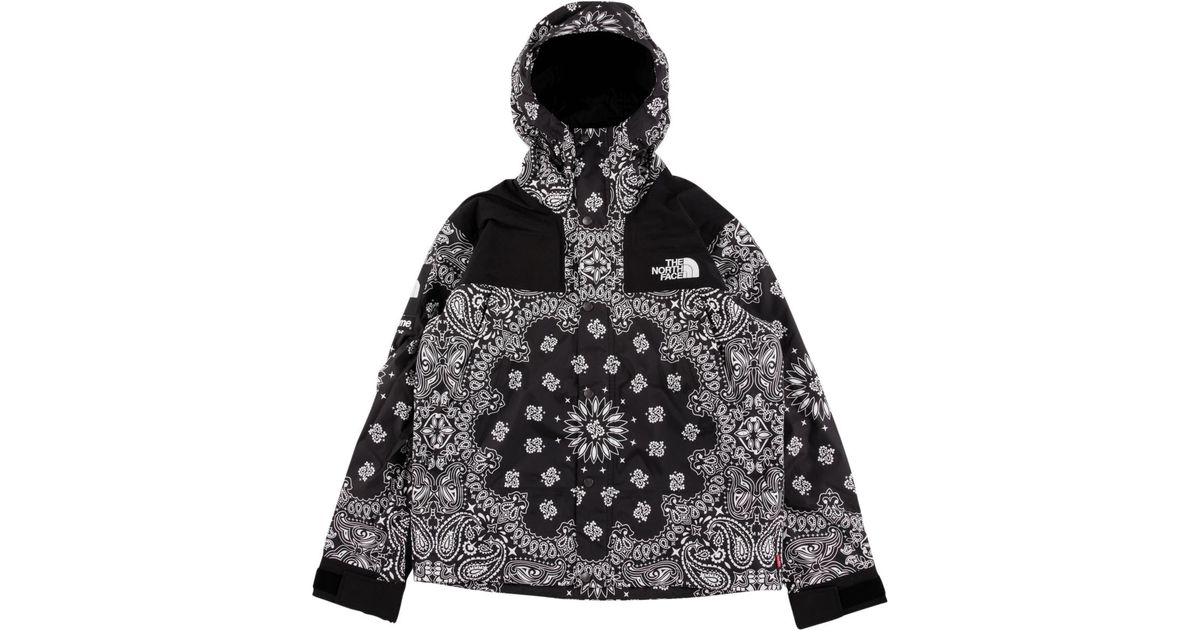 Supreme The North Face Bandana Mountain Jacket Black - Image Of Jacket e905f364d