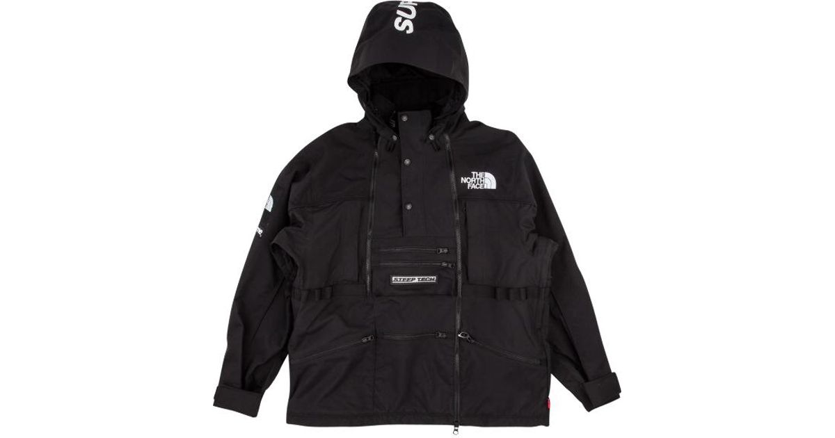 newest a790b 79ca3 Supreme Tnf Steep Tech Hooded Jacket in Black for Men - Lyst