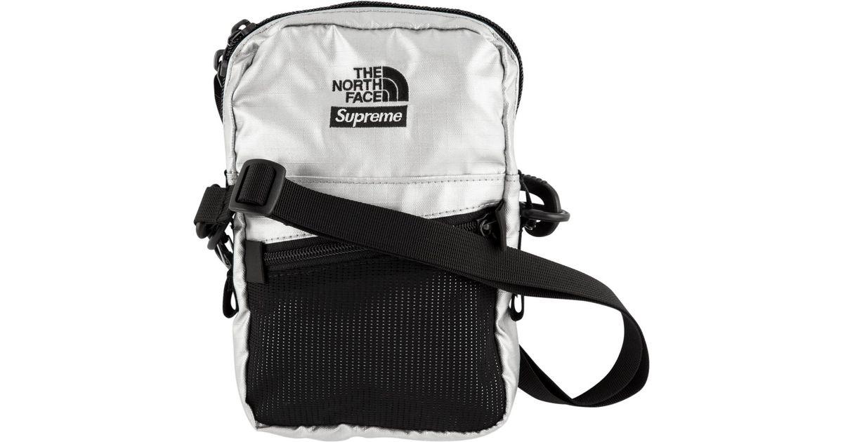 64b1e4b6 Supreme The North Face Metallic Shoulder Bag Silver in Metallic - Save 36%  - Lyst