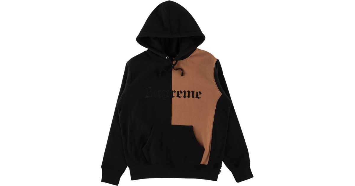 06aa79563 Supreme Split Old English Hooded Sweatshirt 'fw 17' in Black for Men - Save  6% - Lyst