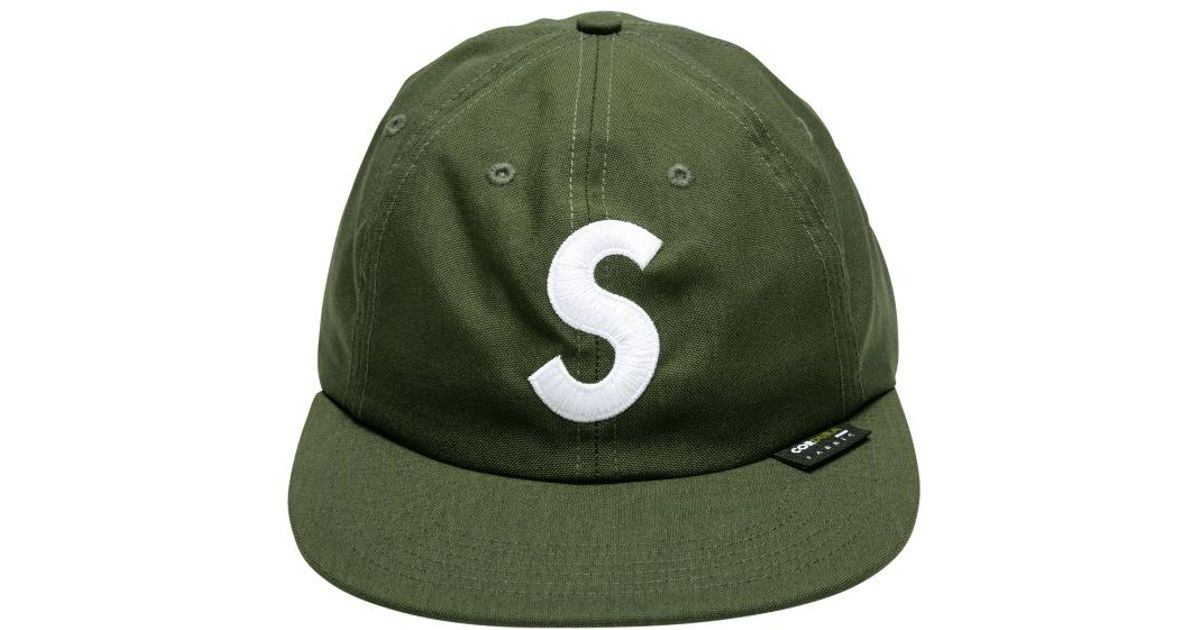 0eb8156e Supreme Cordura S Logo 6-panel Cap 'fw18' in Green for Men - Lyst