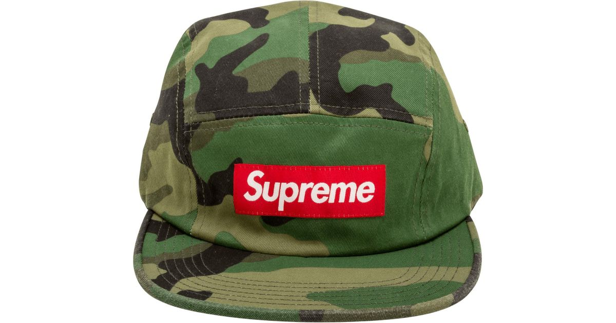 3eced744e5a ... Supreme Washed Chino Twill Camp Cap in Green for Men - Lyst  SUPREME  REFLECTIVE CAMO ...