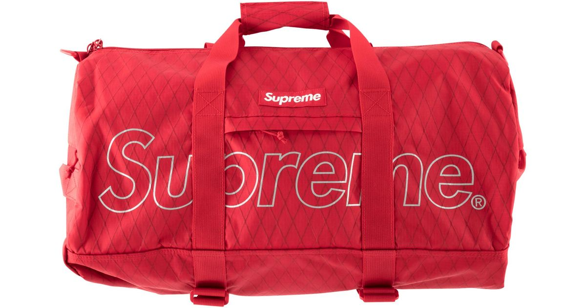 69e00952395a Supreme Duffle Bag in Red for Men - Lyst