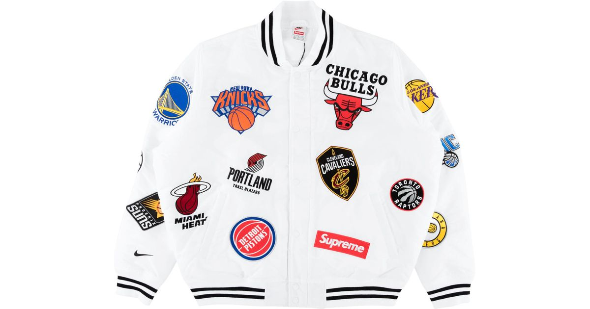 Lyst - Supreme Nike nba Teams Warm-up Jacket White in White for Men - Save  47% e8f9ef7ff