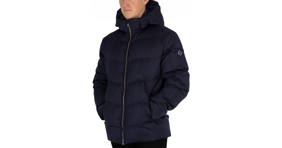 6011305aeca GANT Marine The Alta Down Jacket in Blue for Men - Lyst