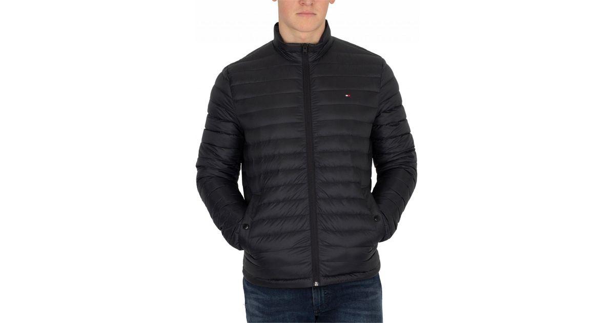 b3e1a7ba02d Lyst - Tommy Hilfiger Jet Black Core Lightweight Packable Down Jacket in  Black for Men