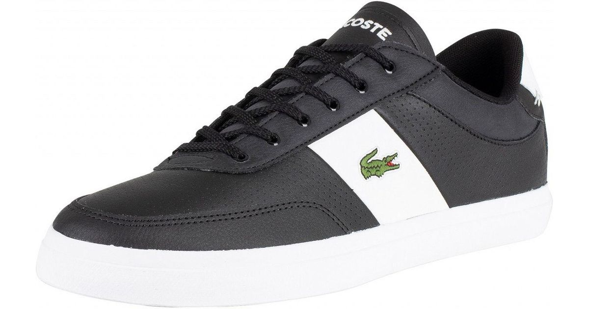 17b821359 Lacoste Black/white Court-master 119 2 Leather Trainers in Black for Men -  Lyst