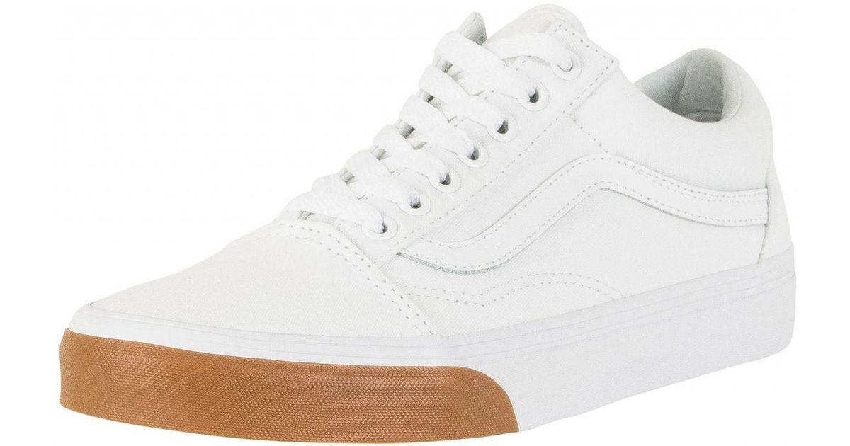 a2181f38472bbd Vans True White gum Bumper Old Skool Trainers in White for Men - Lyst