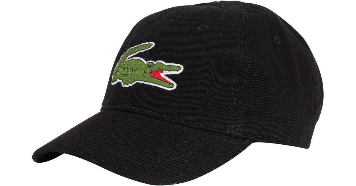 719fbf4e3aaa4a Lyst - Lacoste Large Croc Cap in Black for Men